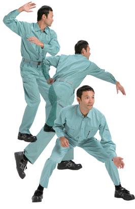 (超伸縮)肩プリーツ採用の作業服